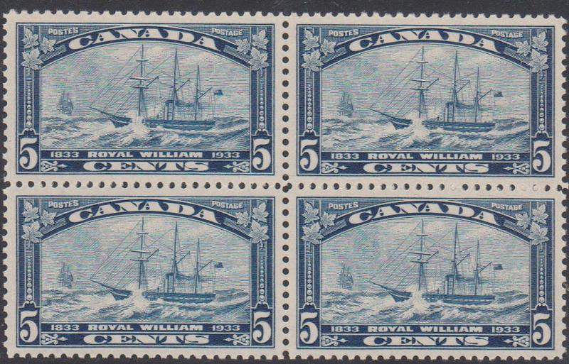 Canada - 1933 Royal William Block of Four VF-NH #204