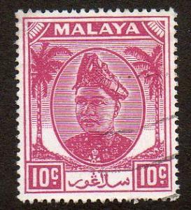 Malaya, Selangor  Scott  86  Used