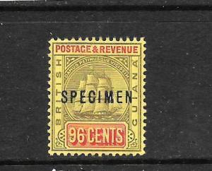 BRITISH GUIANA 1905-07  96c  SHIP  MNH   SPECIMEN    SG 250s