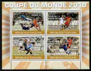 Togo 2010 Football World Cup #2 perf sheetlet containing ...