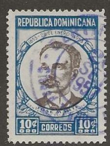 DOMINICAN REPUBLIC SC # 457   USED