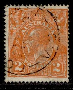 AUSTRALIA GV SG62, 2d brown-orange, FINE USED.