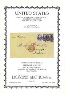 Robbins: Sale #   -  United States Proofs, Stamps and Pos...
