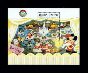 SIERRA LEONE - 1991 - DISNEY - CHRISTMAS - MICKEY - MAGIC KINGDOM - MINT S/S!