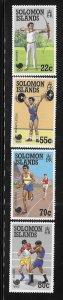 Solomon islands 1988 Summer Olympics Seoul Sc 622-625 MNH A1772