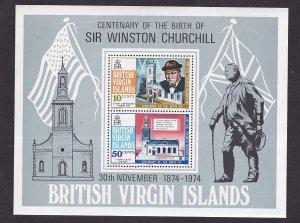 Birtish Virgin Islands   #278a-279a  MNH  1974  sheet  Churchill