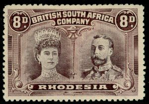 RHODESIA SG147, 8d Dull Purple & Purple PERF 14, M MINT. Cat £180.