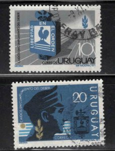 Uruguay Scott 805-806 Liberty and Order set