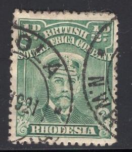 Rhodesia    #119  1913  used  king George V   1/2p