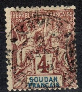 French Sudan #5 F-VF Used  CV $6.50 (X2673)