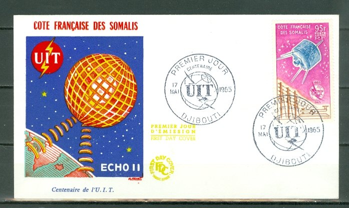 SOMALI COAST 1965  ITU #C36...NICE FDC
