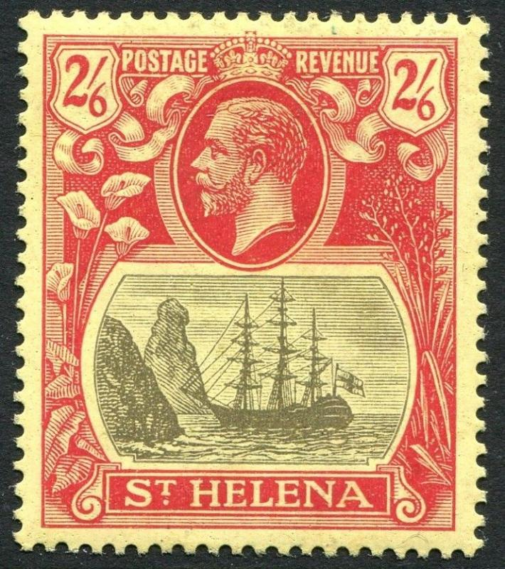ST HELENA-1922-37 2/6 Grey & Red/Yellow Sg 94 MOUNTED MINT V23465