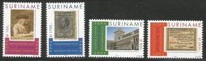SURINAM  1294-1297  MNH, JOHANN ENSCHEDE AND SONS, PRINTERS, 300TH ANNIV.