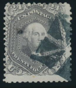 #78 24c FINE USED WITH FANCY GEOMETRIC CANCEL CV $350+ AU878