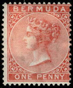 BERMUDA SG1, 1d Rose Red WMK CC, M MINT. Cat £100.