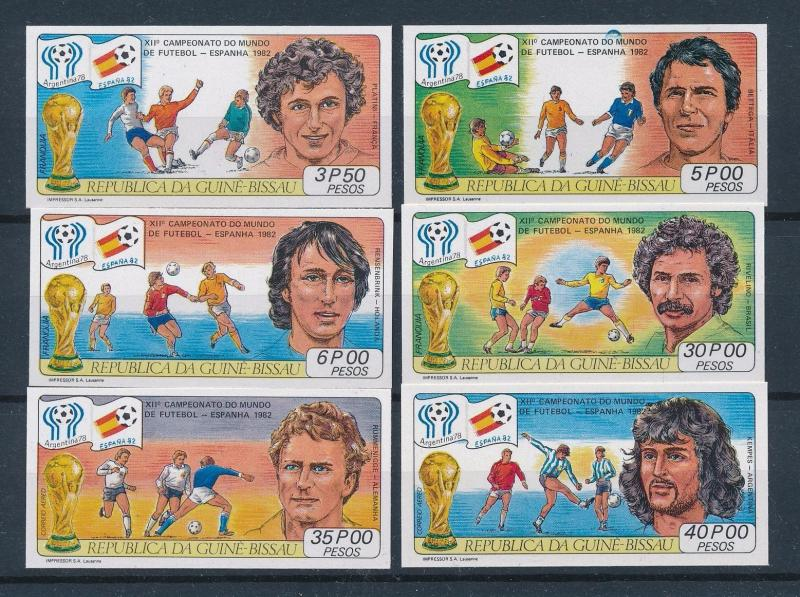 [60480] Guinea Bissau 1981 World Cup Soccer Football Spain Imperforated MNH