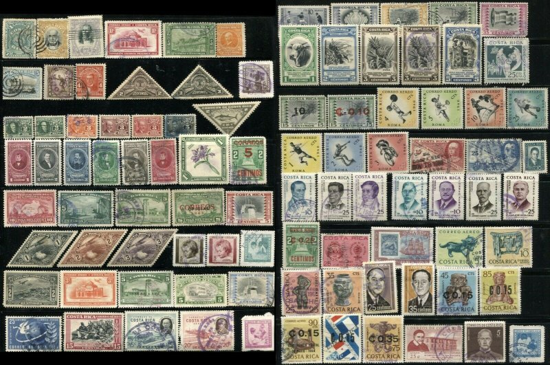 COSTA RICA Correos Postage Airmail Latin America Stamp Collection Used Mint LH