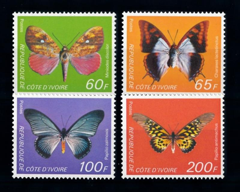 [70711] Ivory Coast 1978 Insects Butterflies  MNH
