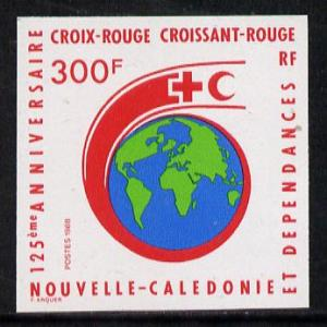 New Caledonia 1988 300f Red Cross 125th Anniversary imper...