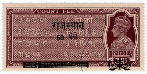 (I.B) India Revenue : Court Fees 50np on 3R OP (Rajasthan)