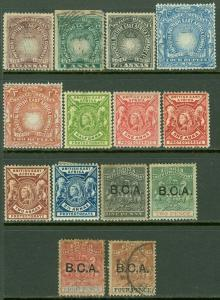 EDW1949SELL : BRITISH EAST AFRICA Also BCA 14 Different Mint & Used. Cat $193.00