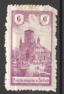 Poland, 1918 Locals, Zarki, Michel # 7, mint, hinged, small tear, top right