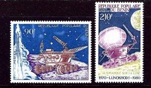 Benin 468 and C290 MNH 1980 Anniv of Soviet Moon Landing    (ap3544)