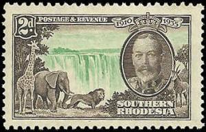 Southern Rhodesia  - 34  - Unused - SCV-8.00
