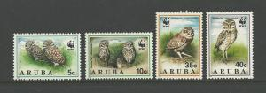 World Wildlife Fund - Owls-Aruba #101-104