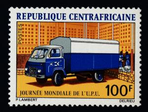 Central Africa 176 MNH Mail Truck