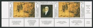 Venezuela 1430-1430Bc strip.MNH.Michel 2578-2580. Liberator of Curacao,John Pool