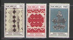 Norway Sc 623-5 1973 Lapland handicraft stamps mint NH