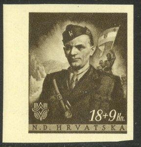 CROATIA 1944 18+9k Jure Fancetic Semi Postal Scott No. B62 MNH