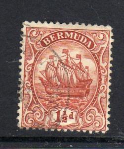 BERMUDA #84  1934  1 1/2p CARAVEL    F-VF USED  a