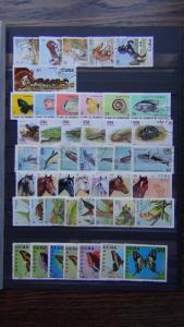 1972 1984 sets Horses Popey Reptiles Whales Butterflies Wildlife VFU