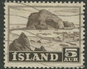 Iceland - Scott 257 - General Issue -1949 - VFU - Single 5a Stamp