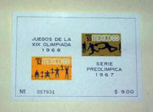 Mexico - C331a, MNH Imperf. S/S. Olympics. SCV - $7.50