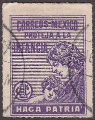 Mexico RA8 Hinged Used 1929 Postal Tax Stamp