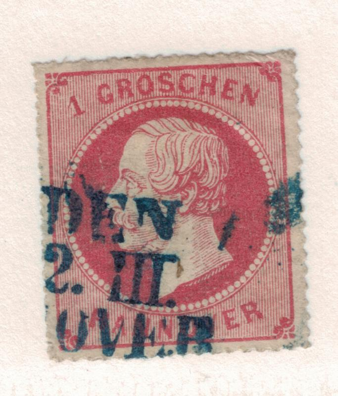 Hannover (German State) Stamp Scott #27, Used - Free U.S. Shipping, Free Worl...