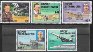 Central African Empire # 297 - 301. History of Aviation  Concorde.