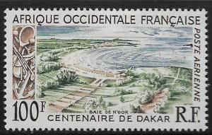 FRENCH WEST AFRICA, C27, MINT HINGED, CENTENARY OF DAKAR