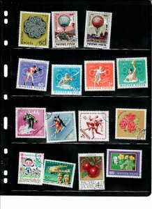 Hungary Lot of 127 Stamps Mostly CTO