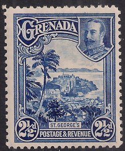 Grenada 1934 - 36 KGV 2 1/2d Blue St Georges MM SG 139 ( A4  )