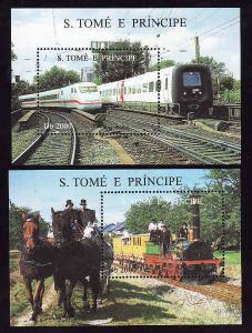 St. Thomas & Prince Island-Sc#1285-86-2 sheets-unused-NH-Tra
