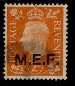 BRITISH OC OF ITALIAN COLONIES GVI SG M12, 2d pale orange, USED.