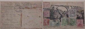 TUNESIA TURKEY ITALY ROMANIA AUSTRIA FRANCE FORWARED 1914