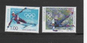 LIECHTENSTEIN #1469-1470  2010 WINTER OLYMPICS CALGARY    MINT  VF NH  O.G
