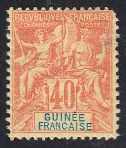 French Guinea Scott 13 unused with thin.