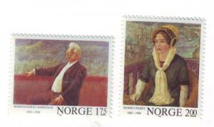 Norway Sc 810-11 1982 Writers stamp set mint NH