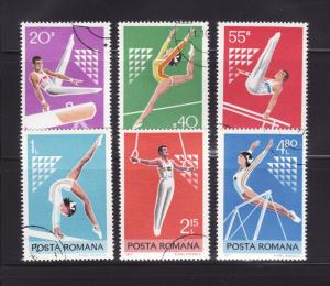 Romania 2731-2736 Set U Sports, Gymnasts